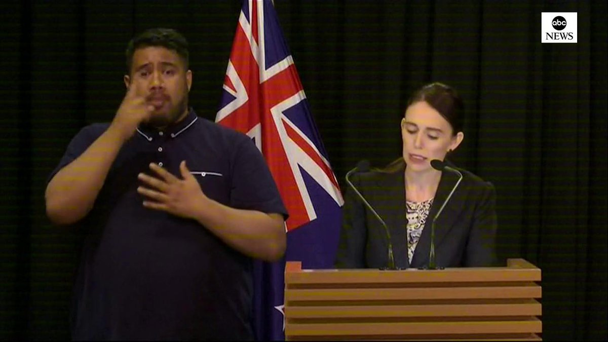"""BREAKING: New Zealand prime minister announces sweeping gun law changes after mosque shooting. """"In short, every semiautomatic weapon used in the terrorist attack on Friday will be banned in this country."""" https://abcn.ws/2Jtr5f6"""