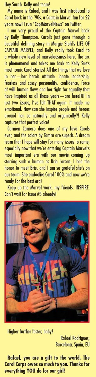 Check out who made it on the letters page of this week's #CaptainMarvel #3! It's @CaptMarvelNews!