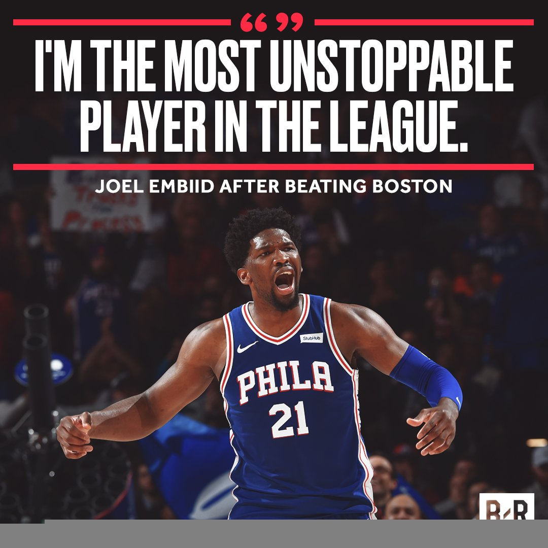 Joel Embiid making it known.