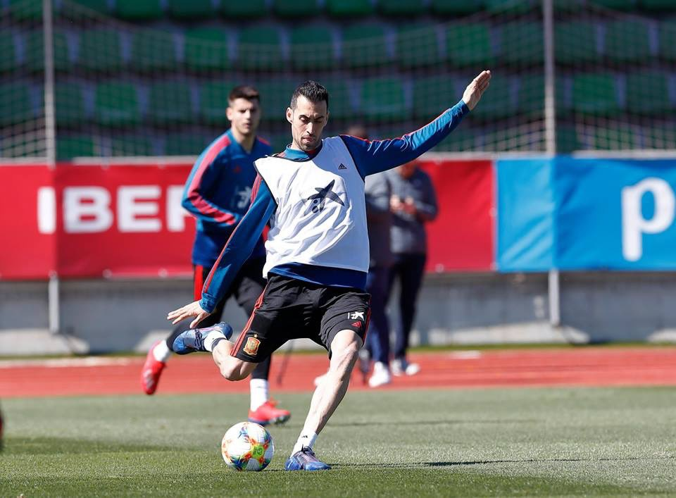 🇪🇸 سيرجيو بوسكيتس من تدريبات منتخب اسبانيا ..