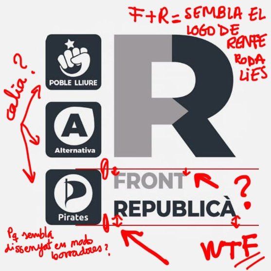 Hola @Front_Republica no he pogut evitar analitzar una mica el vostre logo i quasi m'explota el cap! Con la venia: