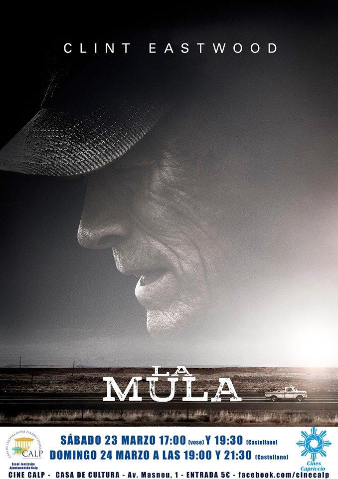 La  última película de Clint Eastwood llega este fin de semana al cine de la Casa de Cultura @culturacalp  @TurismoCalp