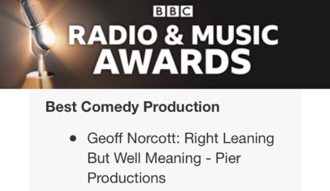 So I only WON it. Best comedy at BBC Radio & Music Awards. Already thanked industry bods, so I'll take this rare luvvie opportunity to thank my amazing wife, son & family - who put up with me thinking about comedy far too much.