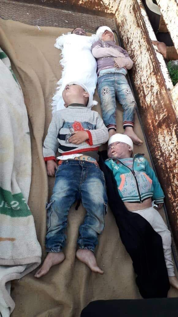 On the #MothersDay , Russian air forces killed 4 children and the husband of a women northern Syria.