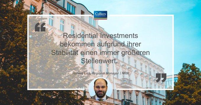 Colliers setzt Wachstumsstrategie im Bereich Residential fort<br><br>Das neue #Residential-Team in Nordrhein-Westfalen unter der Leitung von Niels Zavbi hat seit Jahresbeginn bereits neun Mitarbeiter eingestellt. Alle Informationen:  t.co/cybVD8OFqb