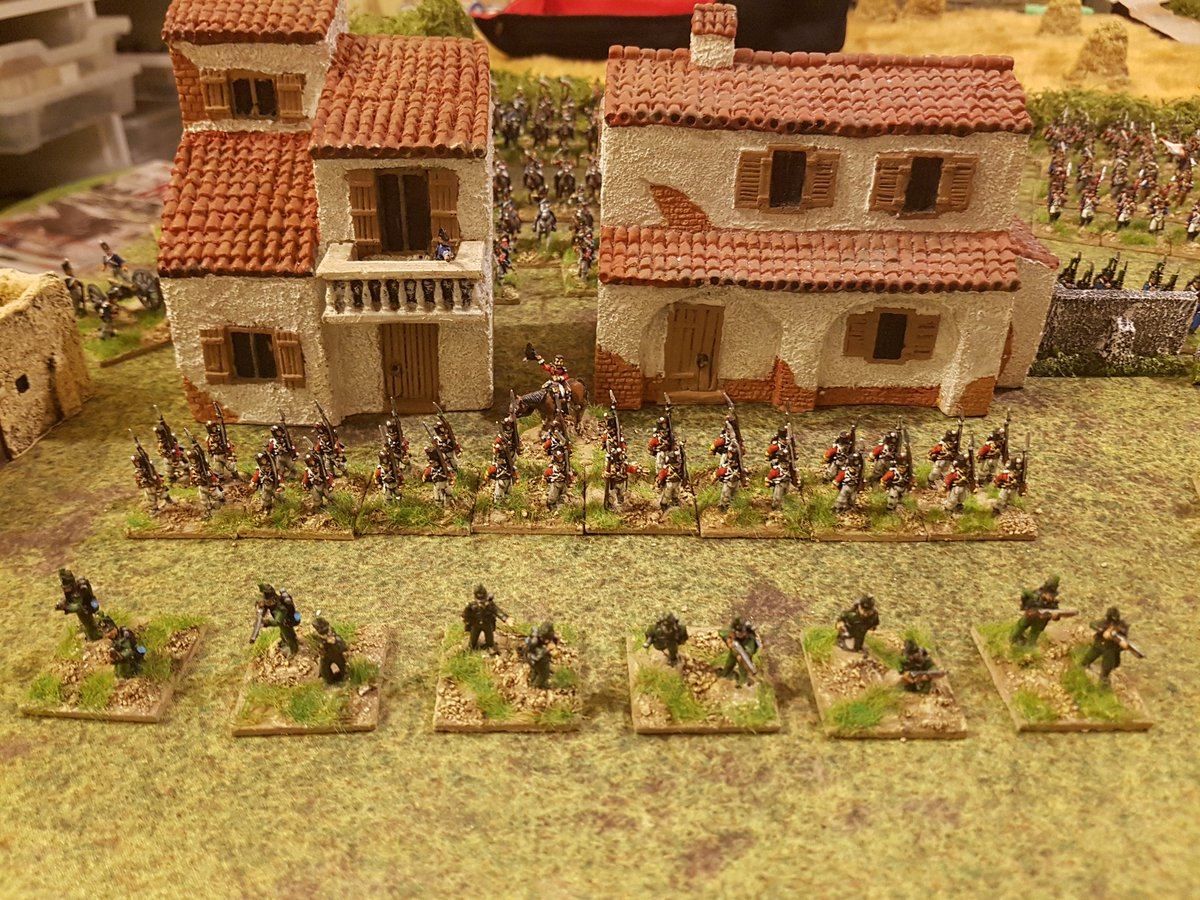 Can&#39;t resist trying some 15/18mm #Sharppractice with groups being 8 bases of 4 figures representing a 32 man half company. There&#39;ll be a wider group frontage initially and it will shrink as casualties are taken. I&#39;m anticipating different command challenges. #SP2 #spreadthelard<br>http://pic.twitter.com/26JGynp73n