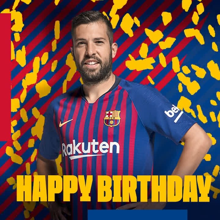 Happy birthday, @JordiAlba! Have a great day