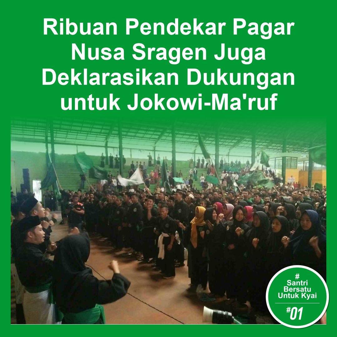 Sragen untuk Jokowi - Amin #SantriBersatuUntukKyai