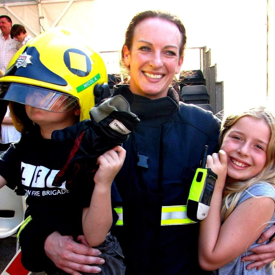 I decided at 38 to apply to become a firefighter  It took me 2 years. I was so driven because I wanted to make a difference  Here I am with my kids, aged 40 & I'm one of the oldest women to get into the LFB  I fought for & I earned my place here fair & square  #NewProfilePic