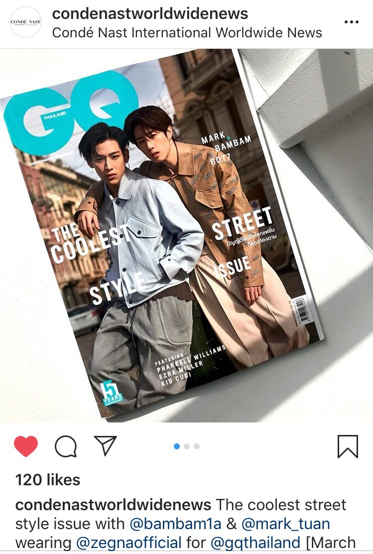 Keep cool and like this  Condenastworldwidenews was an account of Condé Nast company that producing the most iconic media including GQ magazine worldwide     The link   https://www. instagram.com/p/BvO7petFYDo/ ?utm_source=ig_share_sheet&amp;igshid=fi6fnmhwuiyc &nbsp; …   #GQThailandxMTBB #BamBam #MarkTuan<br>http://pic.twitter.com/IFSzzSvmbL