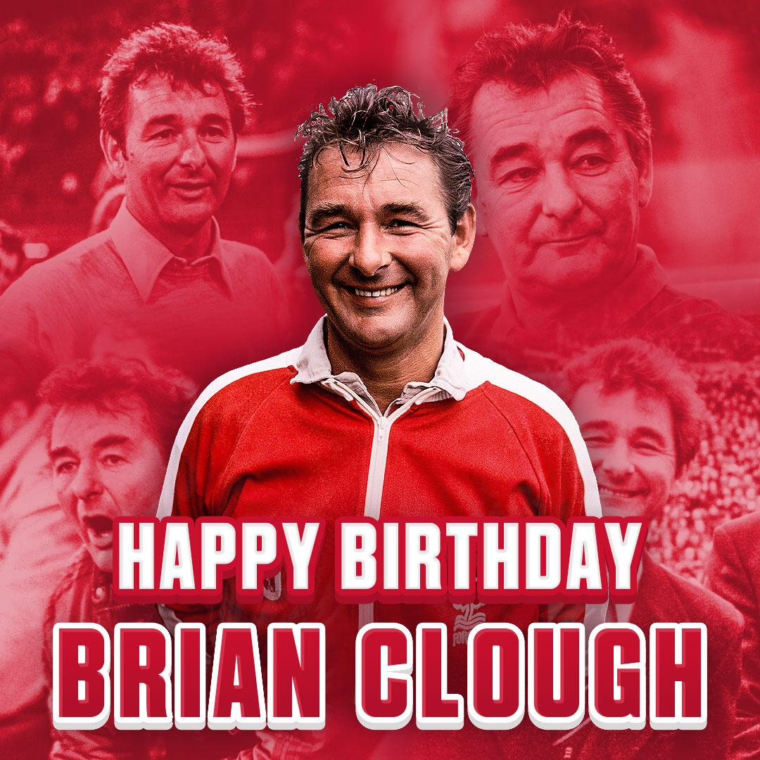 On what would have been Brian Clough's 84th birthday, #NFFC remembers the greatest manager in the club's history.  A man who changed the face of a football club forever.  Never forgotten. Forever Forest. https://t.co/asDgXUDbWD