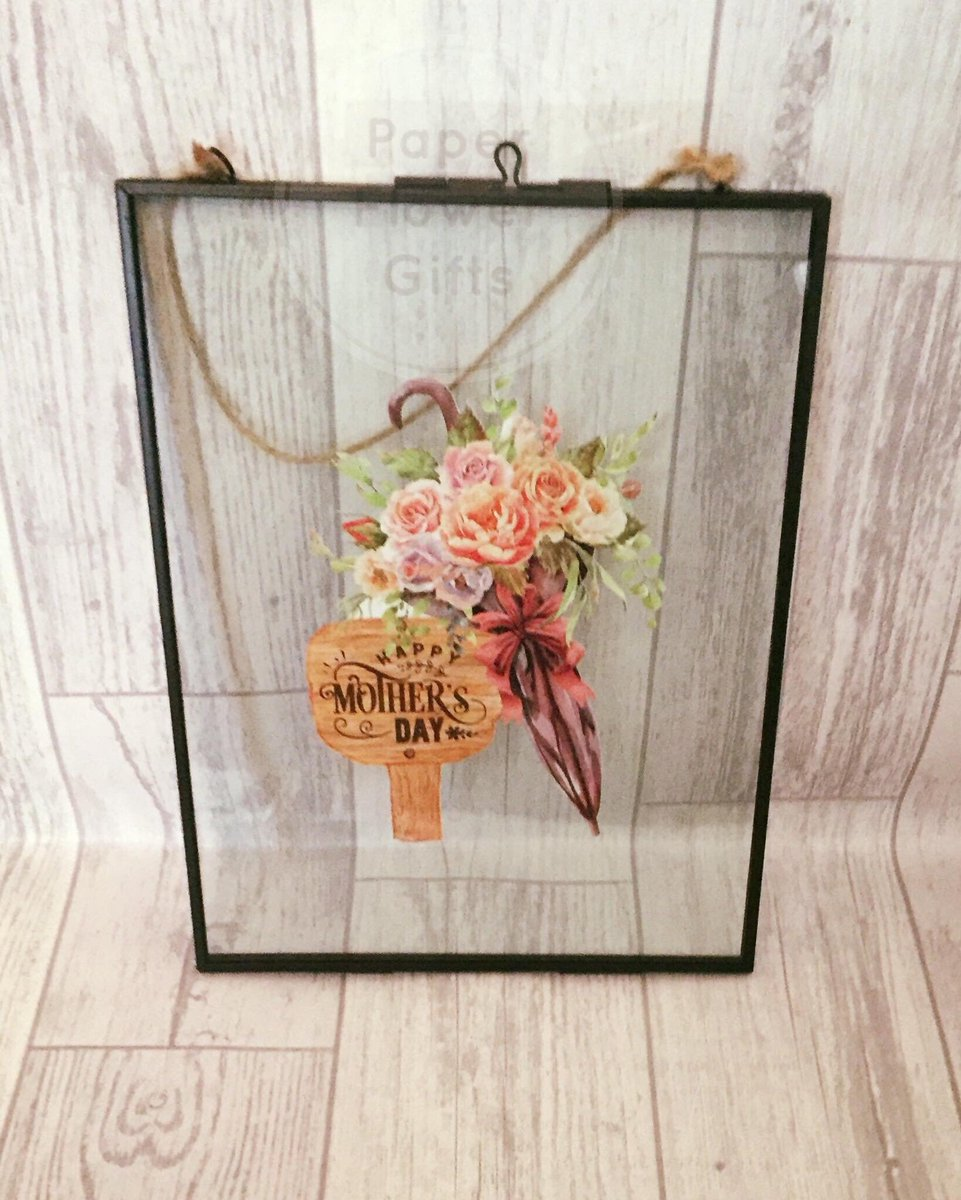 Excited to share this item from my #etsy shop: Mother&#39;s Day gifts Floral glass hanging frame,floral decor,gifts for mum,flowers,mother&#39;s day gifts,wall hanging,home accessories  https:// etsy.me/2YcHCY4  &nbsp;   #MothersDay #MothersDaygifts #homedecor #etsy #flowers<br>http://pic.twitter.com/AbNVtU5pem