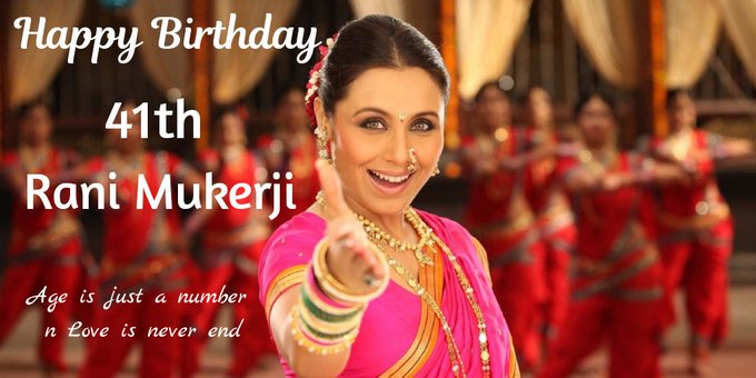 Happy Birthday our Queen Rani Mukerji  We love you and we miss you