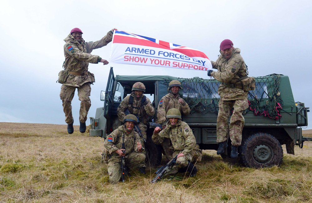 100 Days to go!  The countdown to @ArmedForcesDay has begun.  Armed Forces Day 2019 is Saturday 29 June, with this year's National Event being held in Salisbury. Click here to find your local event: https://www.armedforcesday.org.uk/