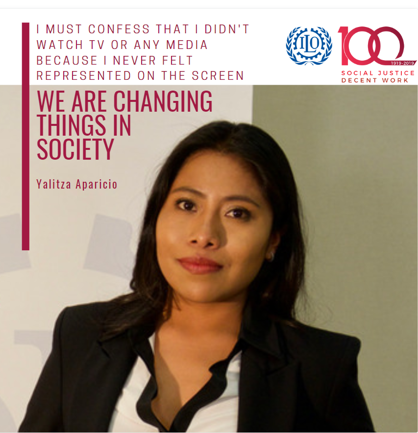 Today is International Day for the Elimination of Racial Discrimination. Yet, bias and discrimination remain a reality for millions of people.   The @ILO stands with Oscars star @YalitzaAparicio on the journey for better representation and more diversity!   #FightRacism #ILO100<br>http://pic.twitter.com/PiOPHJ3rvI
