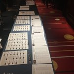Image for the Tweet beginning: Registration desk ready for action