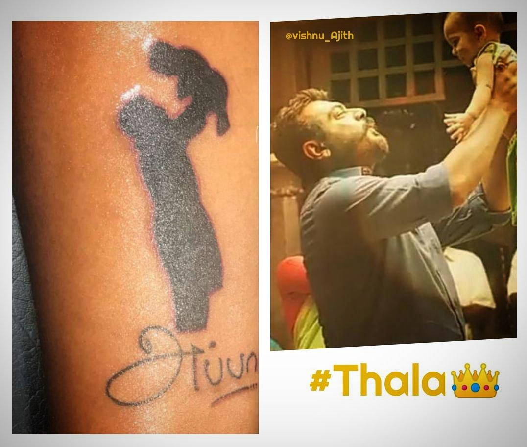 😍Appa Love ❤ அப்பா லவ்😘  #viswasam #ThalaAJITH #thalaajithkumar