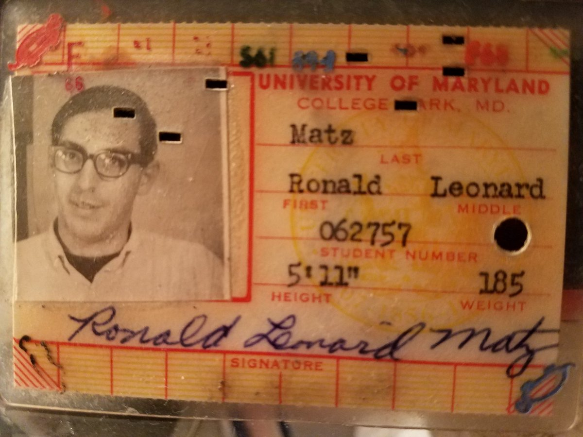Yeh, that&#39;s me! University of Maryland, circa 1969. Ready to root on the Terps in the NCAA Tournament! #GoTerps #MarchMadness <br>http://pic.twitter.com/Z0j3XIVQCF
