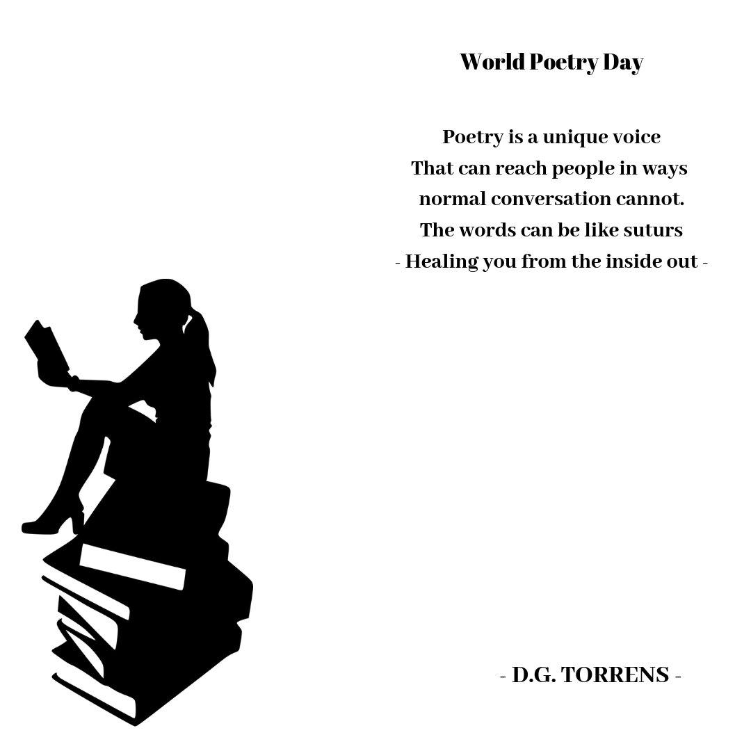 RT @TorrenstpWorld Poetry Day #WorldPoetryDay #poetrycommunity #poet