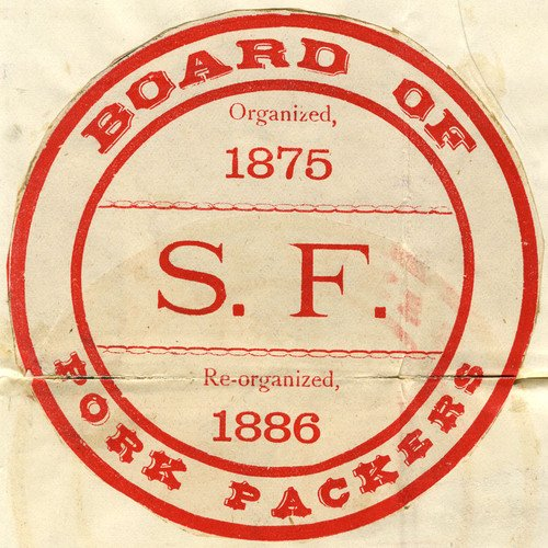 """The 1886 #trademark for the #SanFrancisco Board of Pork Packers."""" #California #History"""