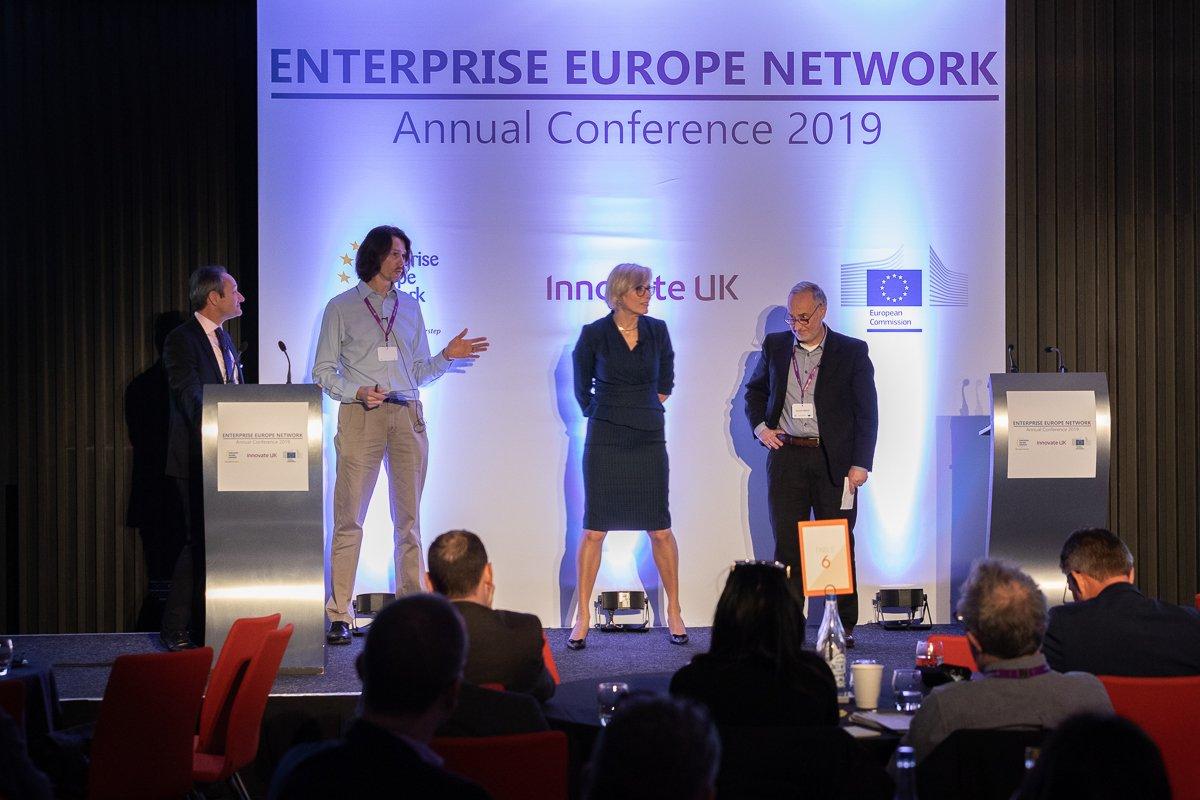 #final #words from David Golding & David Wilkes @innovateuk ; Max Adam @EEN_UK ; & Giacomo Mattino @EU_Commission #internationalisation #SMEs #community #optimism #commitment #collaboration