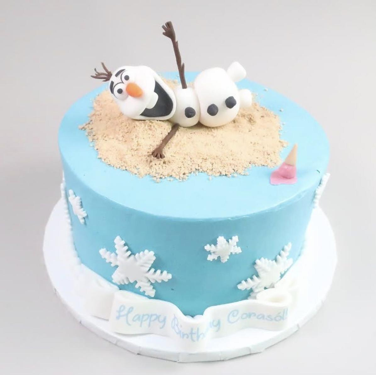 This #NYC weather has us feeling like #Olaf on this cake from last weekend. Somewhere caught between #Spring, #Summer, and #Winter. One day it's 60 degrees and sunny, the next day we have our winter jacket on! Now today, rain! Who is ready for some #Spring? #Frozen