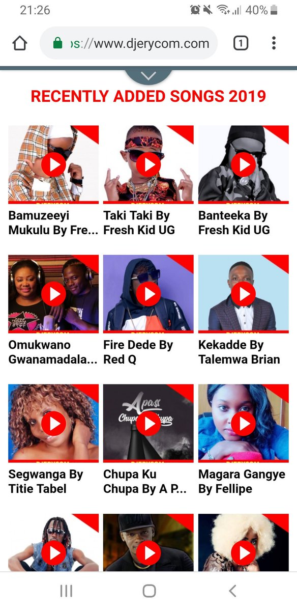 Most Trending Songs2019 Out Side Uganda