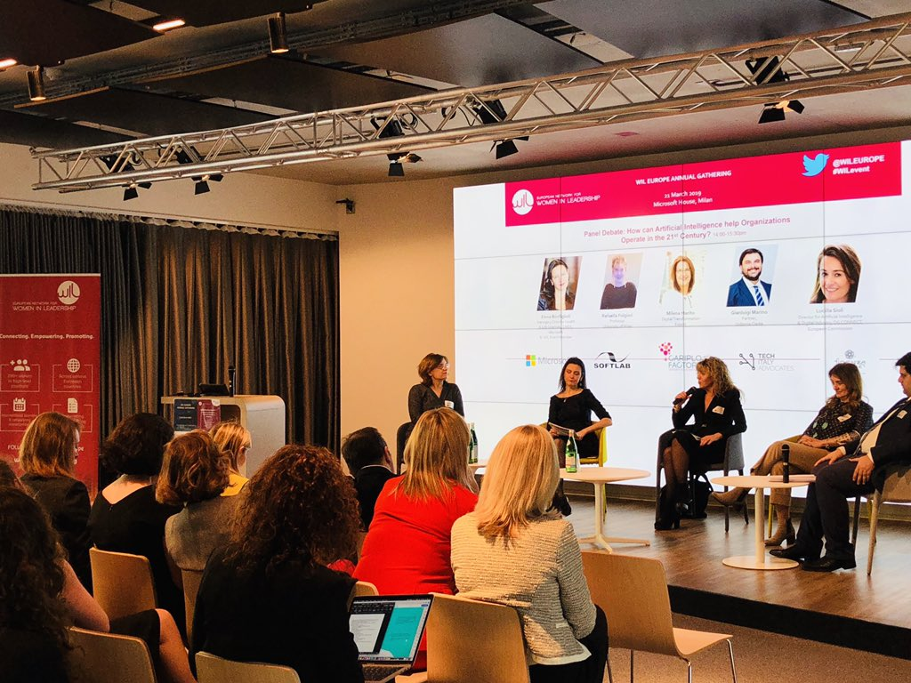 'We are creating a new species. And that's dangerous. The philosophical approach is therefore crucial' #RafaellaFolgieri, Prof. @LaStatale at our Annual Gathering @microsoftitalia during panel debate on #AI moderates by WILBoard Member @elenabonfi #wilevent #tech #digital