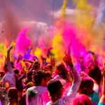 Today we celebrate #Holi, the Hindu welcome of #Spring and Festival of colors!