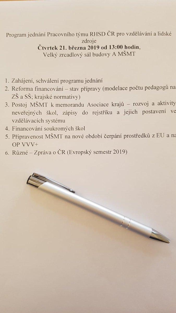 Sociální partneři jsou důrazně proti škrtům v kapitole #MŠMT pro rok 2020 a požadují dodržení závazků ohledně školství, které vyplývají z programového prohlášení vlády! Dnes odpoledne se na @msmtcr sešel ke svému jednání pracovní tým #tripartita pro vzdělávání a lidské zdroje.