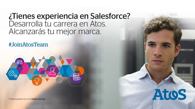 ¿Tienes experiencia en @salesforce? Desarrolla tu carrera en Atos! #JoinAtosTeam https://t.co/W...