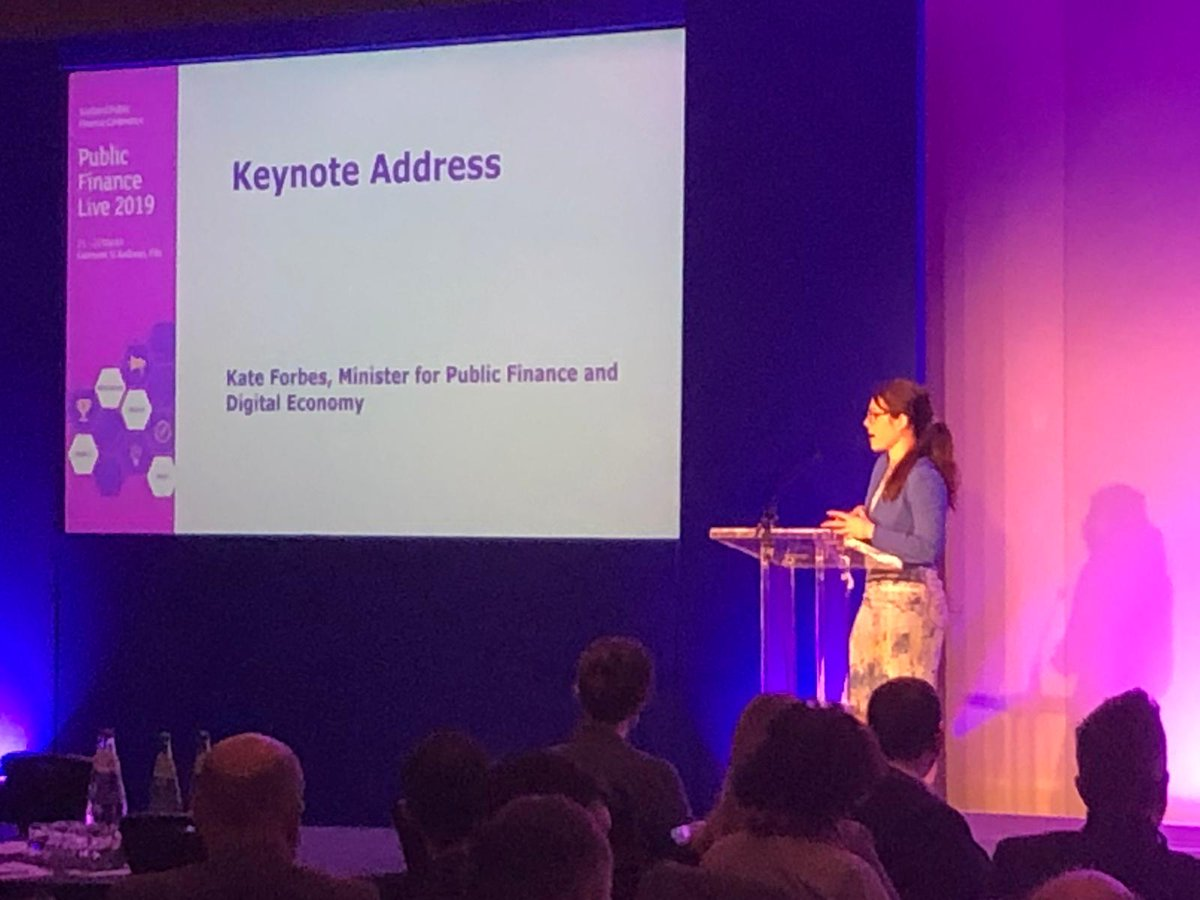 Kate Forbes, MInister for Public Finance and Digital Economy delivering the keynote address