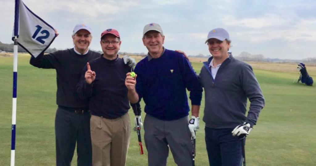 George W. Bush scores first ever golf hole-in-one https://cbsn.ws/2U4xkd6