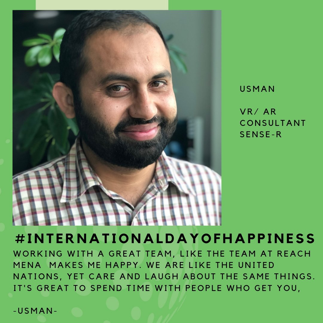 test Twitter Media - Happy International Day of Happiness. This is what makes our favourite VR Consultant, Usman, happy at work.  What about you? What makes you happy? Let us know in the Comments ;-) https://t.co/Tv4IkGrajX