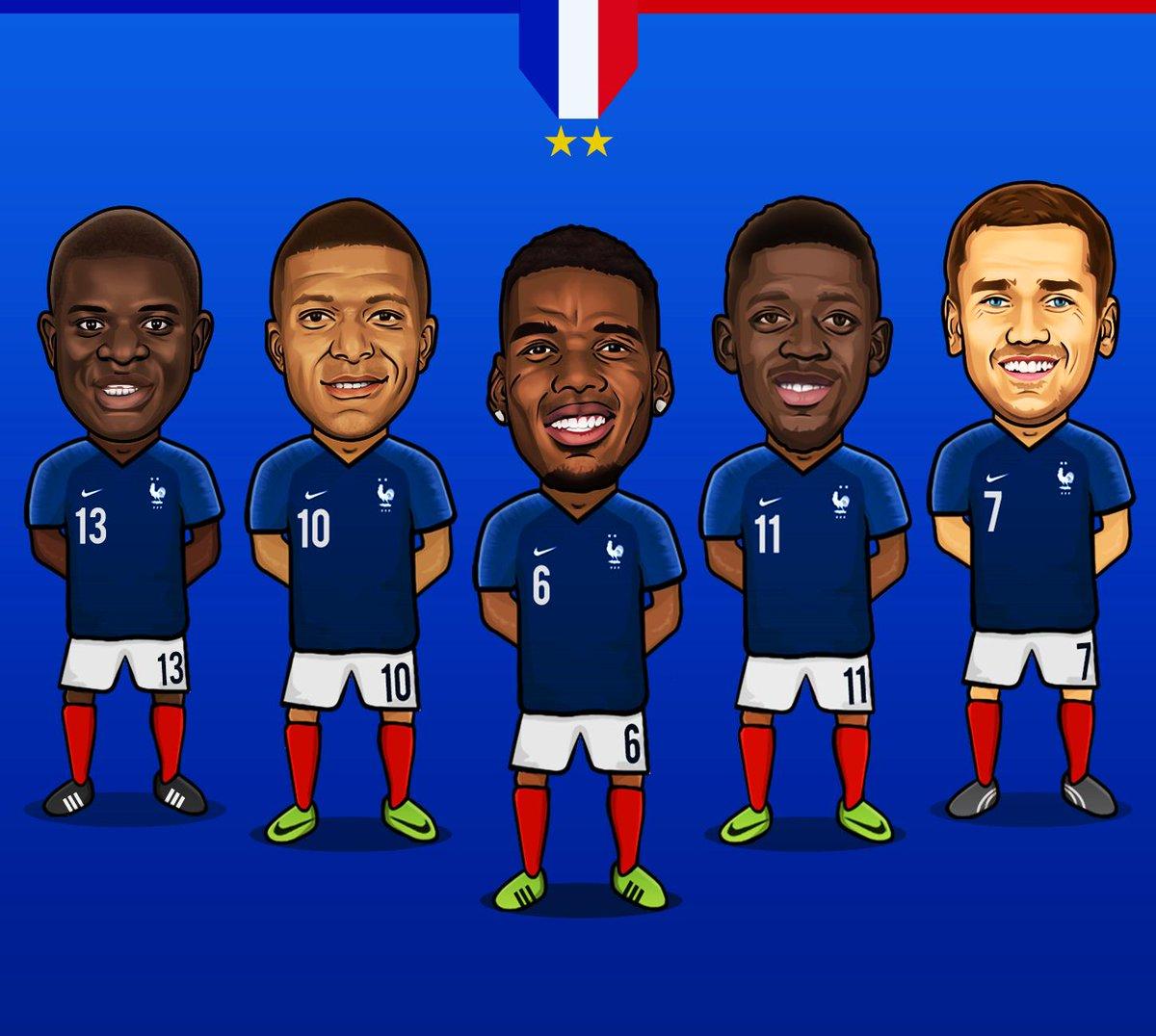 FRANCE 🔵⚪🔴⭐⭐ @equipedefrance   #France #EquipeDeFrance #LesBleus #ChampionsDuMonde #WorldChampions #Kante #Mbappe #Pogba #Dembele #Griezmann