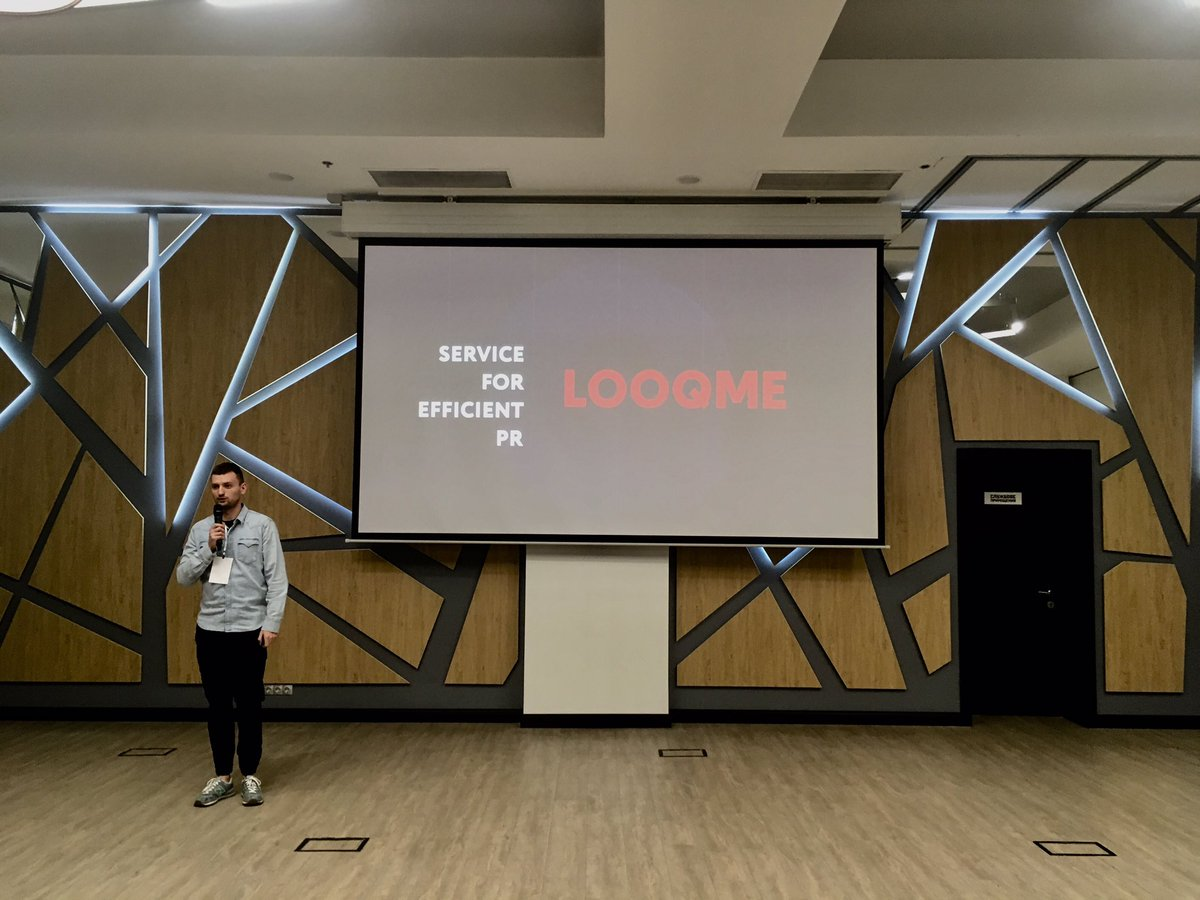 Our CEO @vitalii_tuk presented our new prototype on predictive analytics in PR and some insights how PR is measured in different countries. Soon in our blog. #LOOQMEblog #looqme #pr #measurement #PredictiveAnalytics #uadigitals2019 https://t.co/60Y9kT0iYz
