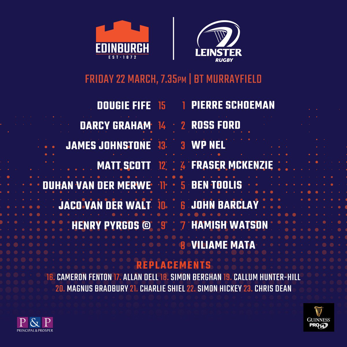 Edinburgh vs Leinster 22nd March  D2LPJ5QW0AIv5aR