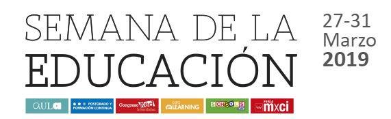 La sexta edición de la Semana de la Educación tendrá lugar del 27 al 31 de marzo. La I Feria Madrid por la Ciencia y la Innovación o El Congreso RED son algunos de los eventos que tienen preparados. ¡No te lo pierdas y regístrate ya! http://www.ifema.es/semanadelaeducacion_01/…