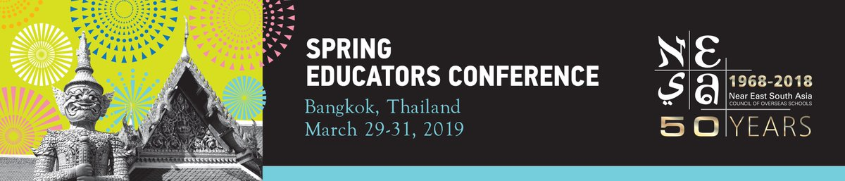 Looking forward to connecting with educators I follow and those who follow me as well as meeting others who will be attending #nesasec19 next week in Bangkok. @nesachat #nesachat #edchatmena #dhawildcatpride