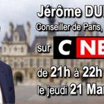 Image for the Tweet beginning: Invite jeudi 21 mars de