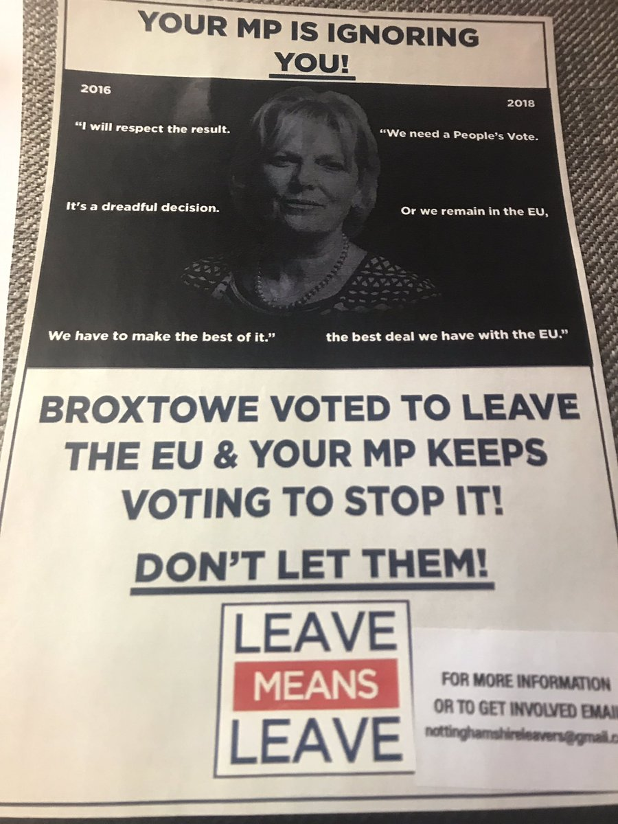 .@LeaveEUOfficial have been delivering this in #LongEaton which is in #Erewash not #Broxtowe and I've never voted to #StopBrexit - I voted to start it &amp; for the Withdrawal Act. But hey they've never let the facts get in the way of a dishonest campaign! <br>http://pic.twitter.com/2Dw4GKScC9