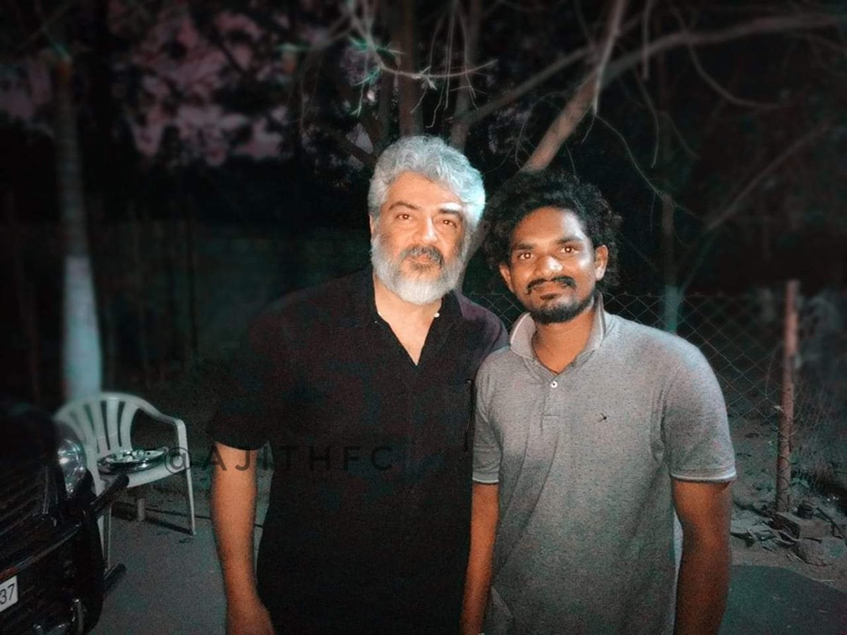#NerKondaPaarvai⚖🤵 Recent Shooting🎪🎬 Spot Pics.. Its Nice to 😉🎐See Few of his Fans🙌, Who work for the 🧢🎥Film Happily📸😊 Shot with the MACHO #Thala #Ajith🧔🕶!  #NerkondaParvai #AjithKumar #ThalaAjith #Shooting #FilmMaking #Kollywood #TamilActors #AK59 #Thala59 #Thala60