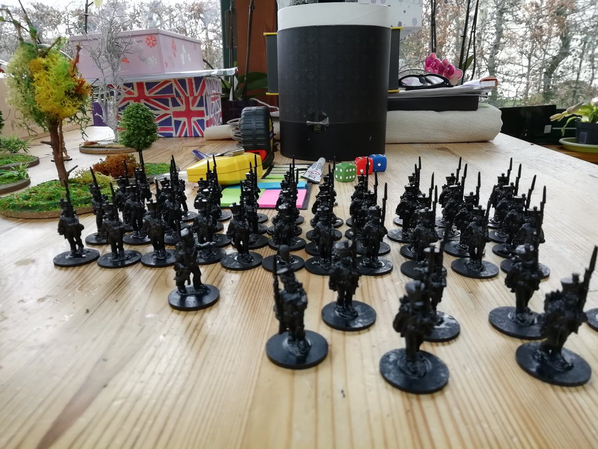 #SP2 french infantry, front rank, coated Just have to begin to paint.. <br>http://pic.twitter.com/rP9X17v7m1