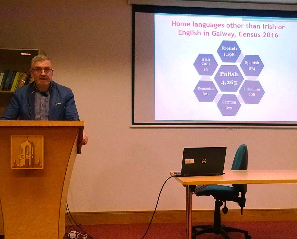 Support Irish & immigrant languages as home languages, provide social & academic context for their use & increase awareness of challenges and opportunities of multilingualism: some of the recommendations at my public lecture with Stanislava Antonijevic in Galway last night.