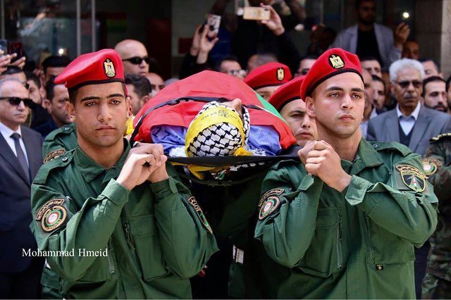 Funeral of Ahmed Manasrah today in Bethlehem.  Ahmed was shot by IOF while helping other injured Palestinians at an Israeli military checkpoint yesterday.<br>http://pic.twitter.com/Pt9JxQqBKb
