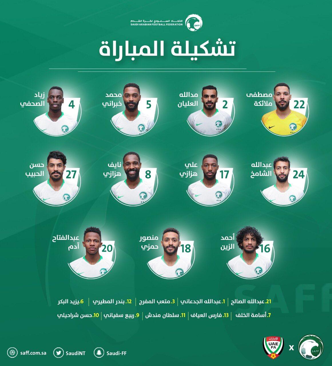 Saudi Arabia National Football Team - Twitter Photo