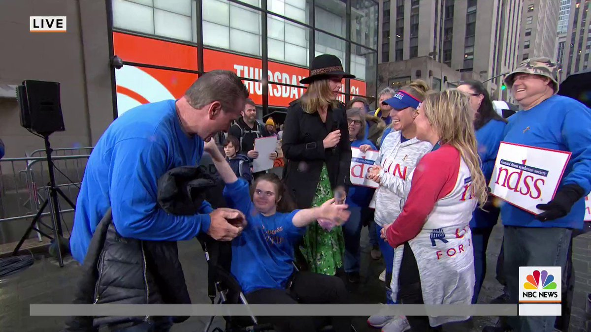 Two days ago, 21 runners from the National Down Syndrome Society embarked on the run for 3.21, a 250-mile run from DC to NYC.  These runners just crossed the finish line here on our plaza on #WorldDownSyndromeDay!