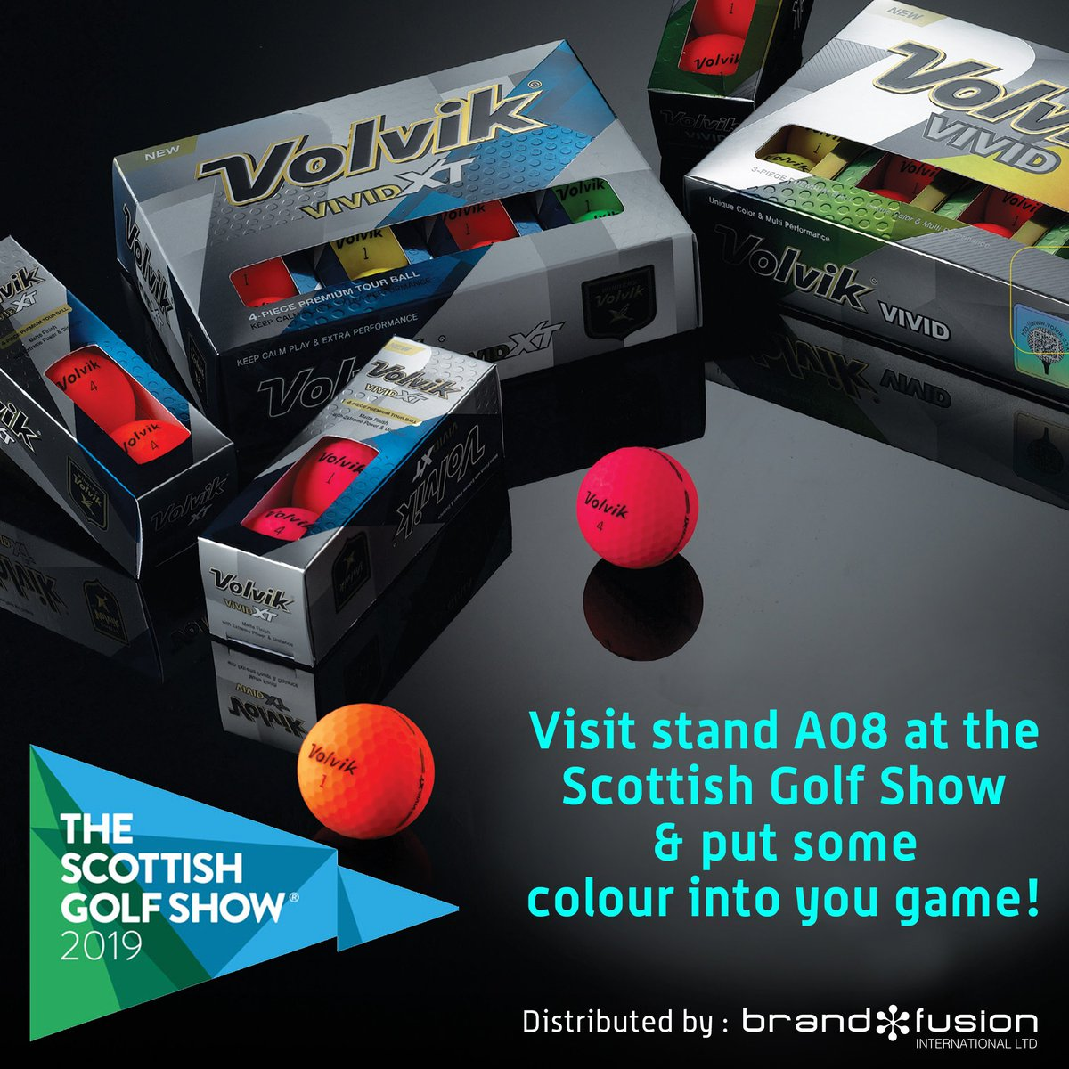 Attending the @ScotGolfShow ?..Visit STAND A08 and put some colour into your game with #VOLVIK! #ChangeTheGame #ScotGolfShow #golf ⛳️🏴🏌️♀️🏌️♂️