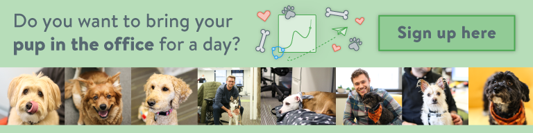 New internal Sigstr campaign! 🐶  PS - We're currently hiring talented and hardworking people and their fur-babies in our #Indianapolis office.   Check out our open roles here: https://www.sigstr.com/careers/