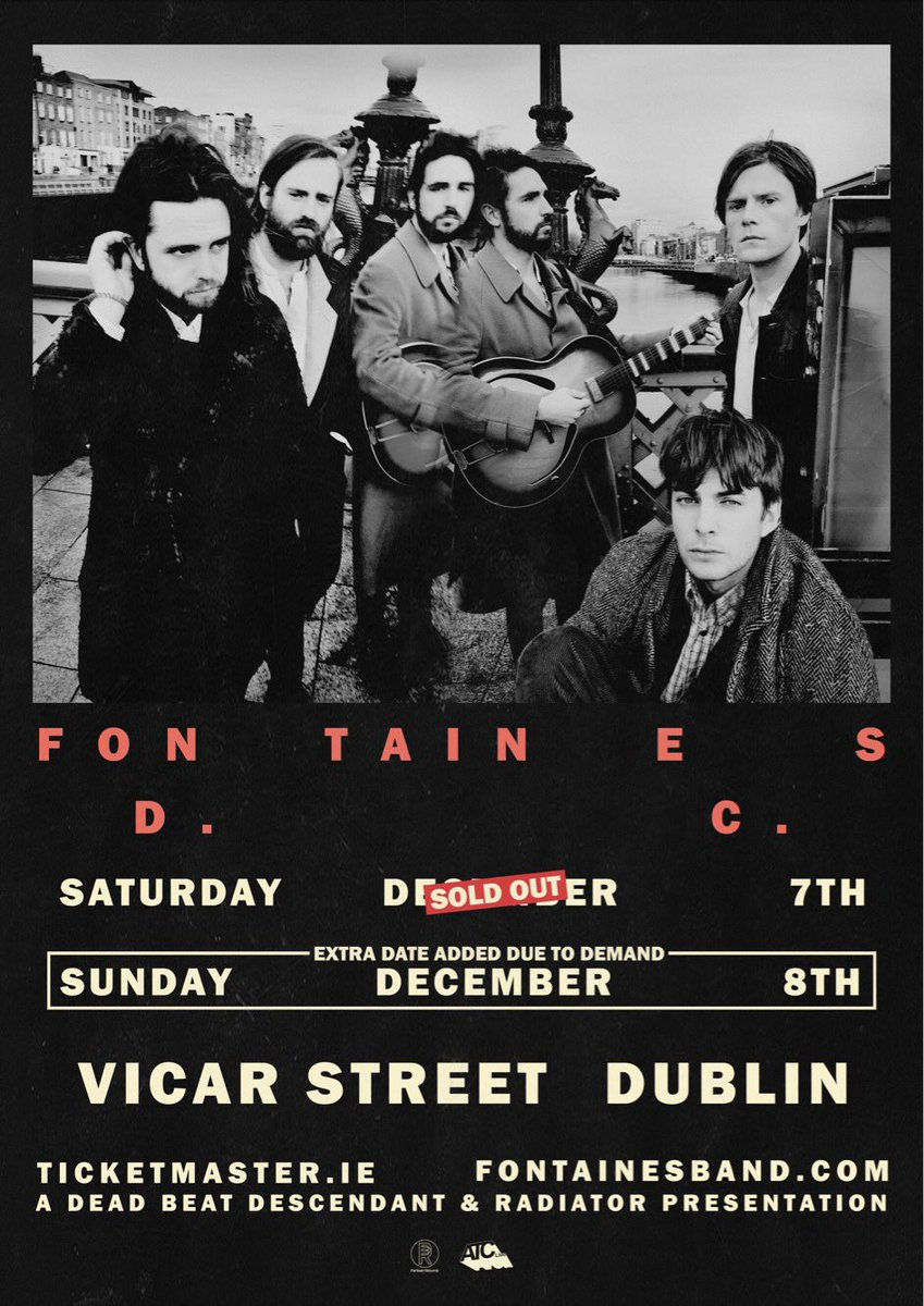 Due to demand we've decided to add a second Vicar Street date.  The first night sold out in just over a week and we'd like to thank everyone who has bought a ticket already.  Tickets for the show on 8th Dec at Vicar street will go on sale tomorrow (Friday 22nd) at 10AM